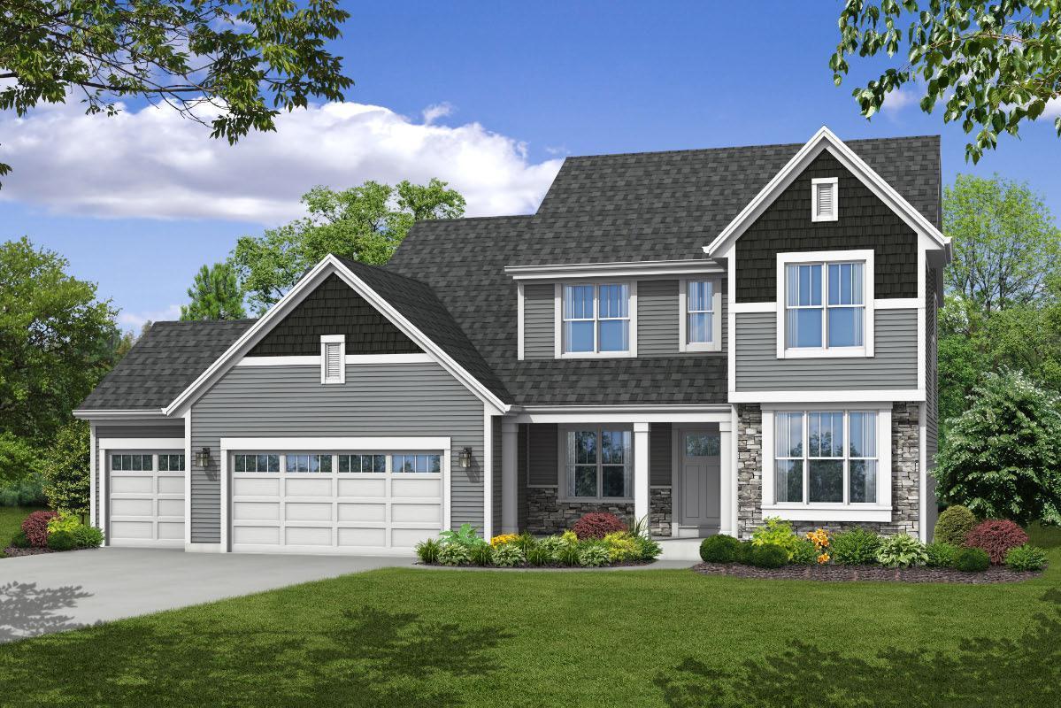 Exterior featured in The Skylar, Plan 2403 By Bielinski Homes, Inc. in Ozaukee-Sheboygan, WI