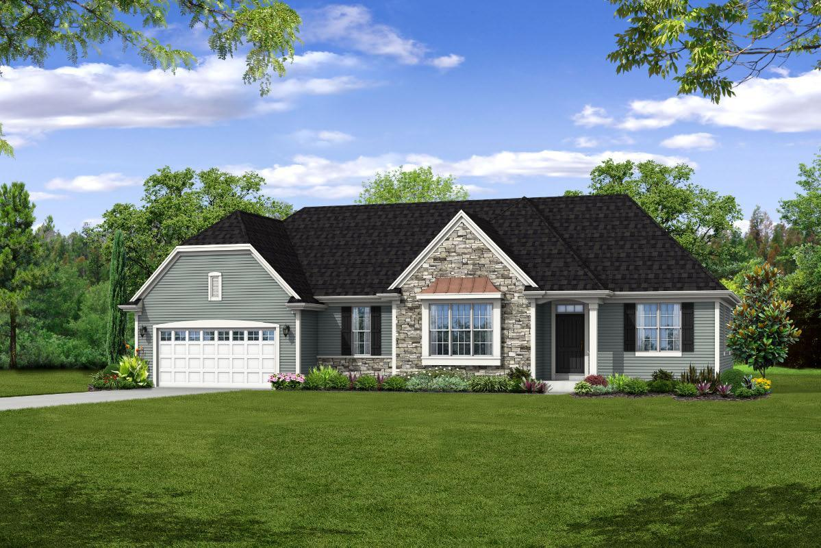 Exterior featured in The Sophia, Plan 1840 By Bielinski Homes, Inc. in Ozaukee-Sheboygan, WI
