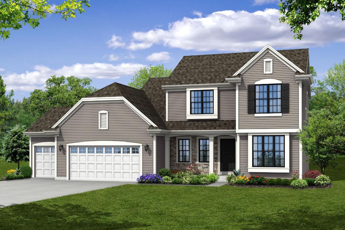 Exterior featured in The Skylar, Plan 2200 By Bielinski Homes, Inc. in Washington-Fond du Lac, WI