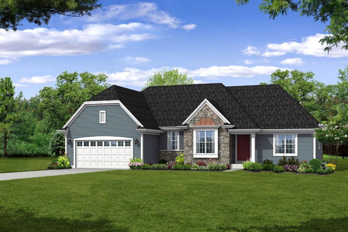 Exterior featured in The Peyton, Plan 1815 By Bielinski Homes, Inc. in Ozaukee-Sheboygan, WI