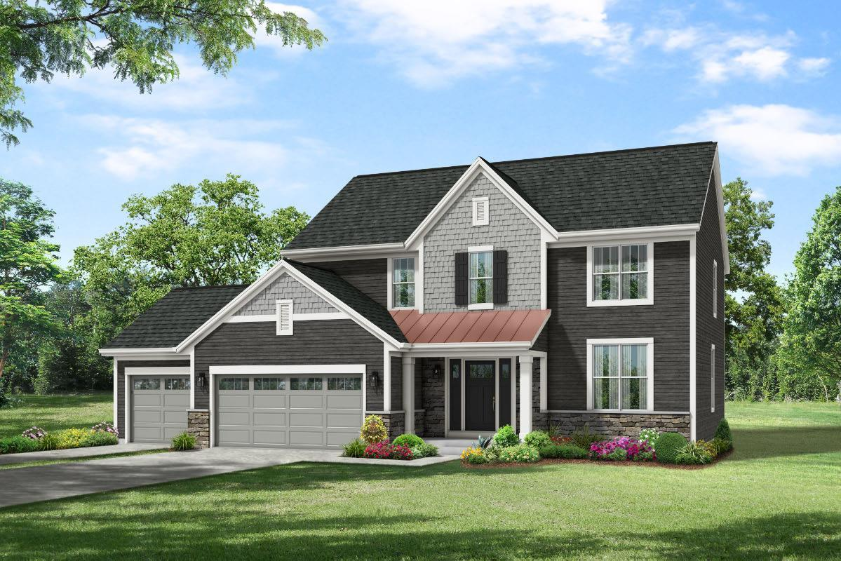 Exterior featured in The Elise, Plan 2404 By Bielinski Homes, Inc. in Milwaukee-Waukesha, WI