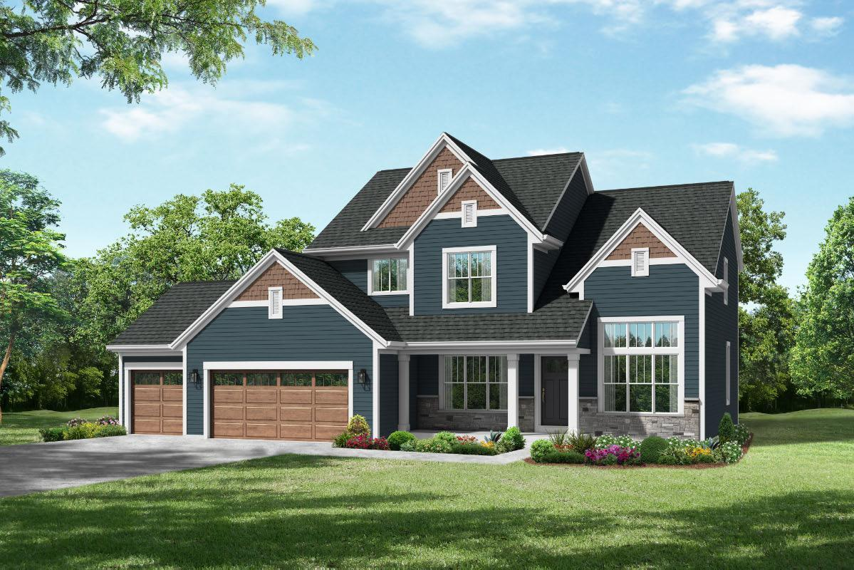 Exterior featured in The Francesca, Plan 2407 By Bielinski Homes, Inc. in Ozaukee-Sheboygan, WI