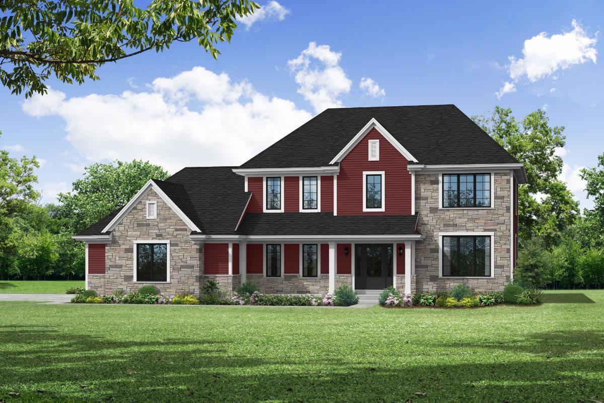 Exterior featured in The Arielle, Plan 2500 By Bielinski Homes, Inc. in Ozaukee-Sheboygan, WI