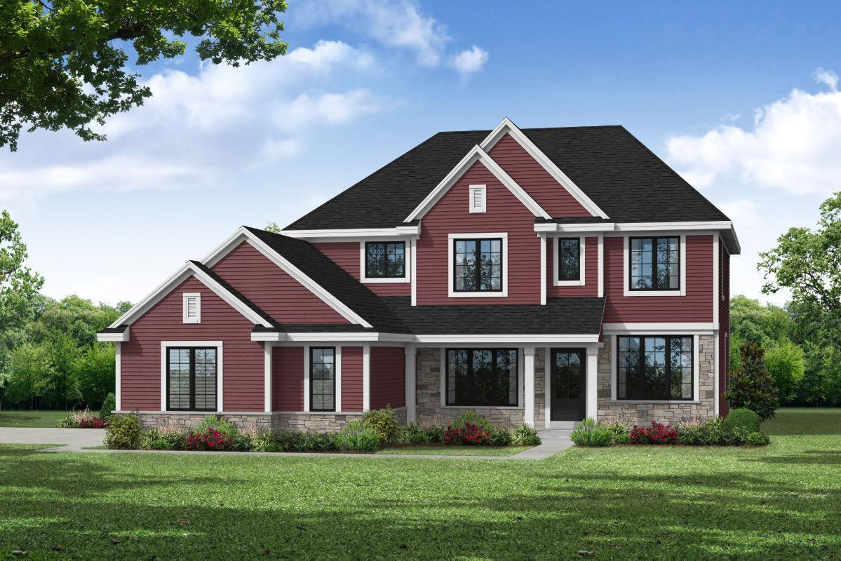 Exterior featured in The Francesca, Plan 2618 By Bielinski Homes, Inc. in Ozaukee-Sheboygan, WI