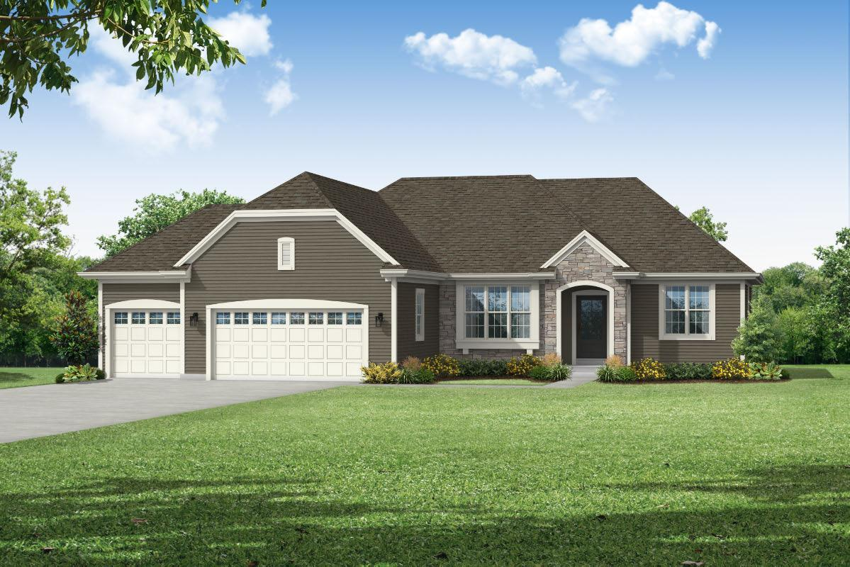 Exterior featured in The Peyton, Plan 1913 By Bielinski Homes, Inc. in Ozaukee-Sheboygan, WI