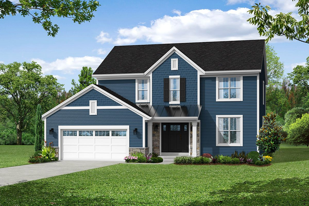 Exterior featured in The Elise, Plan 2203 By Bielinski Homes, Inc. in Ozaukee-Sheboygan, WI