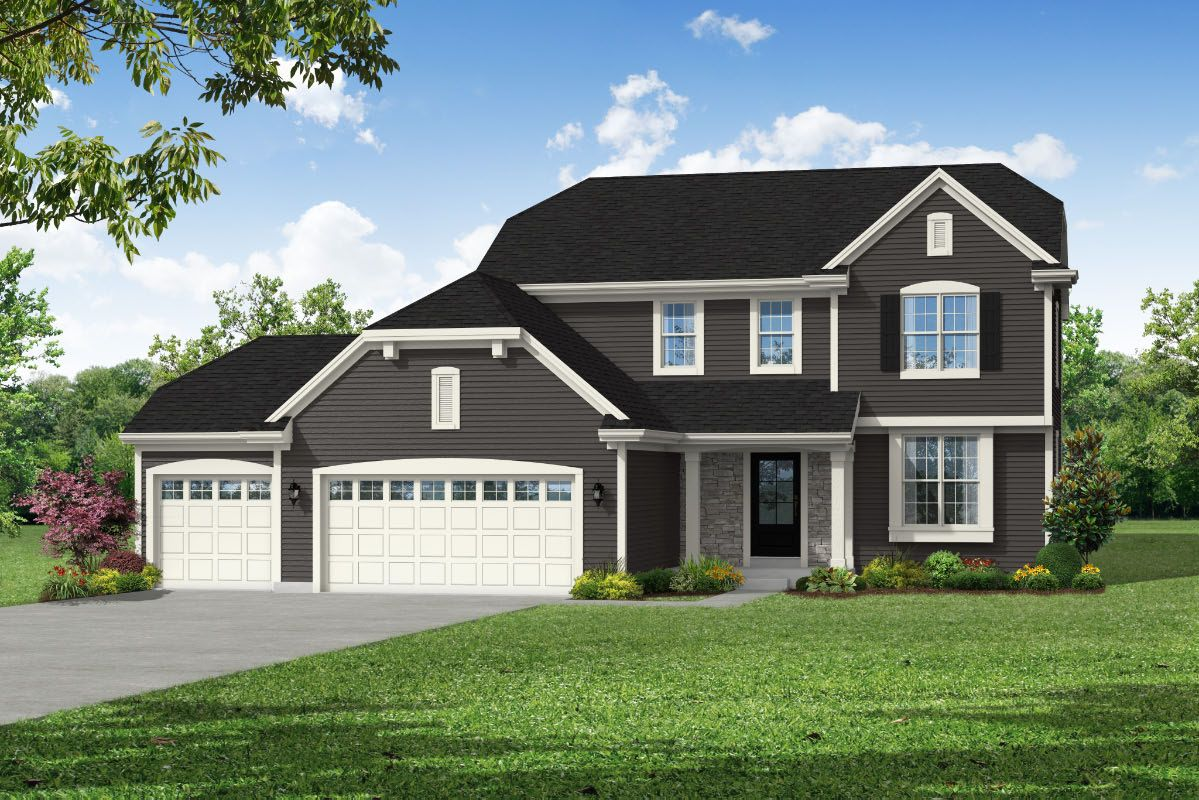 Exterior featured in The Hailey, Plan 2200 By Bielinski Homes, Inc. in Milwaukee-Waukesha, WI