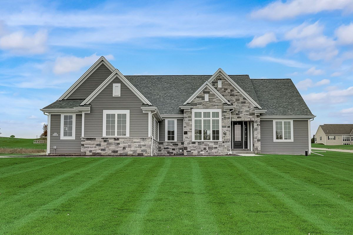 Exterior featured in The Preston, Plan 2300 By Bielinski Homes, Inc. in Milwaukee-Waukesha, WI