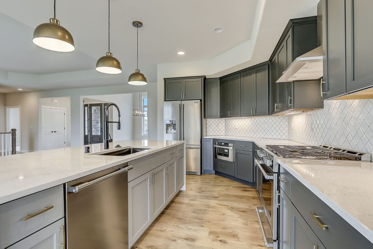 Kitchen featured in The Preston, Plan 2300 By Bielinski Homes, Inc. in Milwaukee-Waukesha, WI