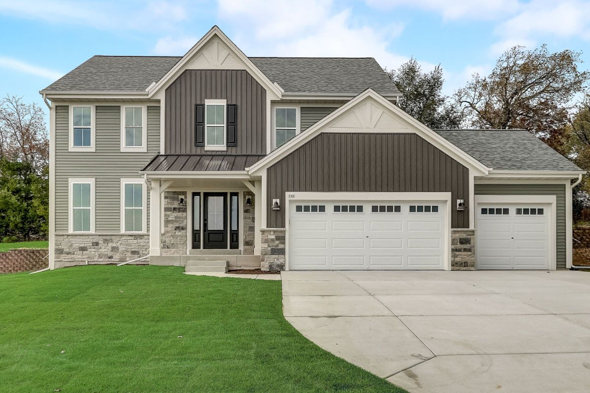 Exterior featured in The Elise, Plan 2404 By Bielinski Homes, Inc. in Ozaukee-Sheboygan, WI