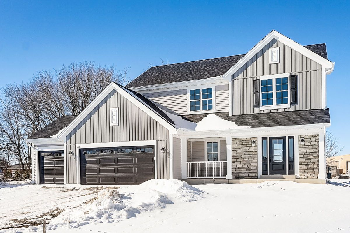 Exterior featured in The Taylor, Plan 2000 By Bielinski Homes, Inc. in Washington-Fond du Lac, WI