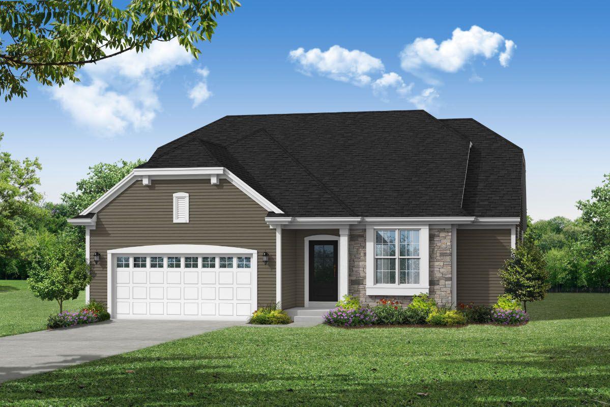 Exterior featured in The Lauren, Plan 1670 By Bielinski Homes, Inc. in Racine, WI