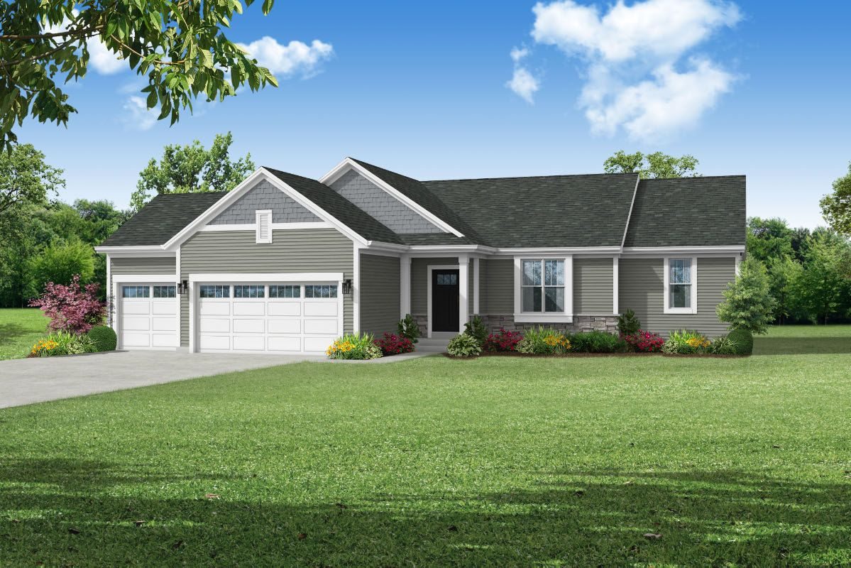 Exterior featured in The Rylee, Plan 1654 By Bielinski Homes, Inc. in Racine, WI