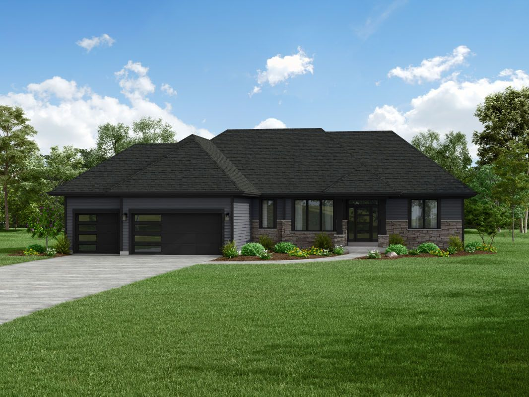 Exterior featured in The Peyton, Plan 2210 By Bielinski Homes, Inc. in Ozaukee-Sheboygan, WI