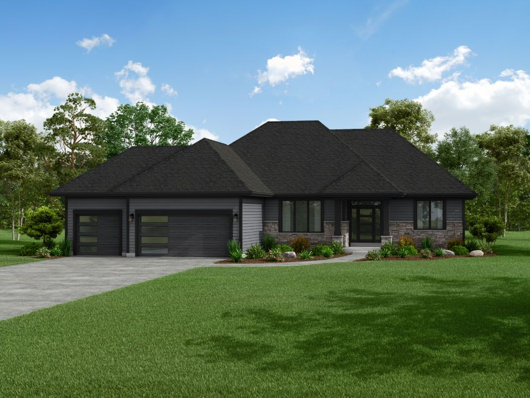 Exterior featured in The Sophia, Plan 2200 By Bielinski Homes, Inc. in Ozaukee-Sheboygan, WI