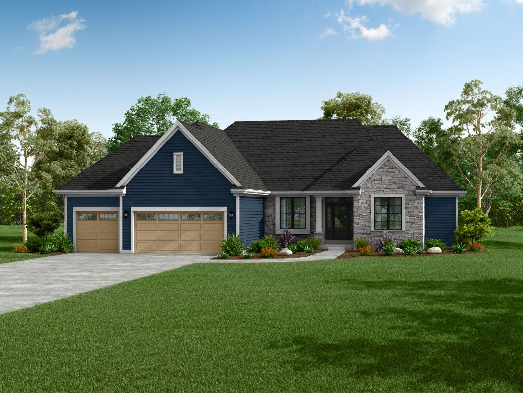 Exterior featured in The Isabel, Plan 2200 By Bielinski Homes, Inc. in Washington-Fond du Lac, WI