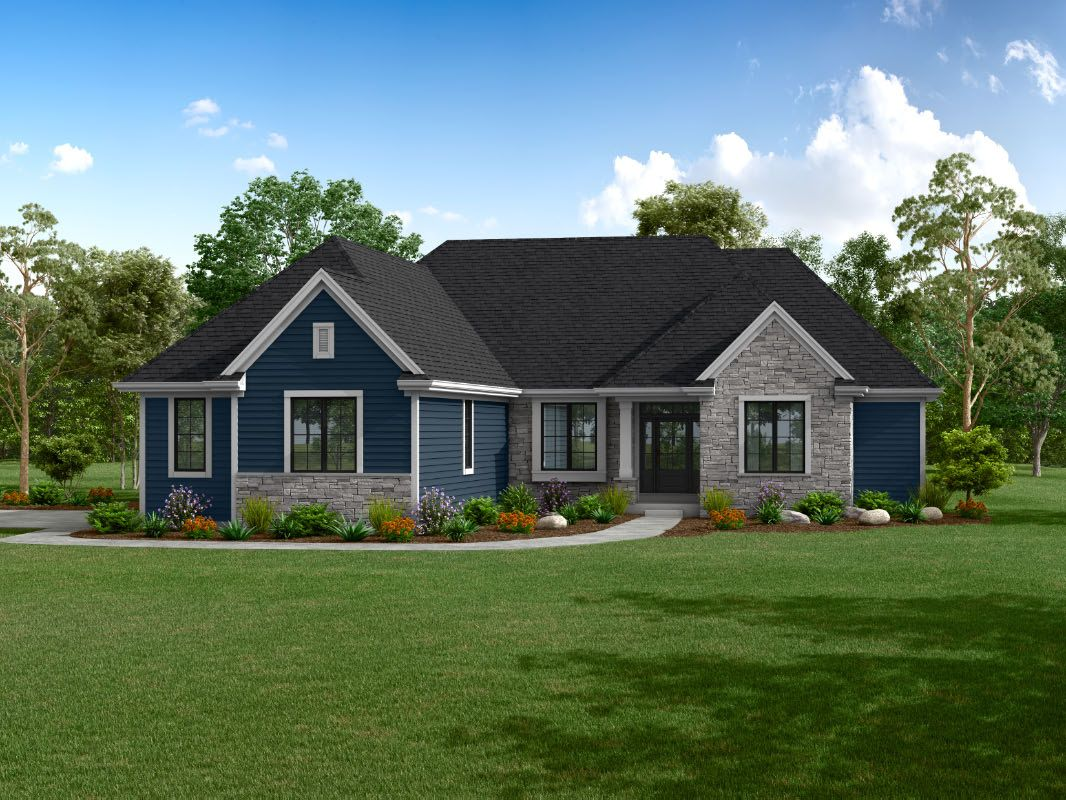 Exterior featured in The Isabel, Plan 2200 By Bielinski Homes, Inc. in Ozaukee-Sheboygan, WI