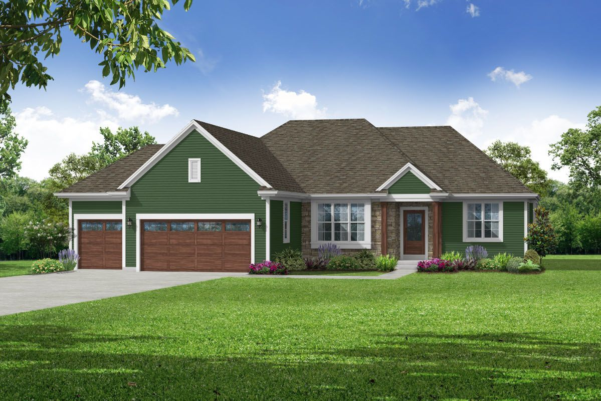 Exterior featured in The Sophia, Plan 2010 By Bielinski Homes, Inc. in Ozaukee-Sheboygan, WI