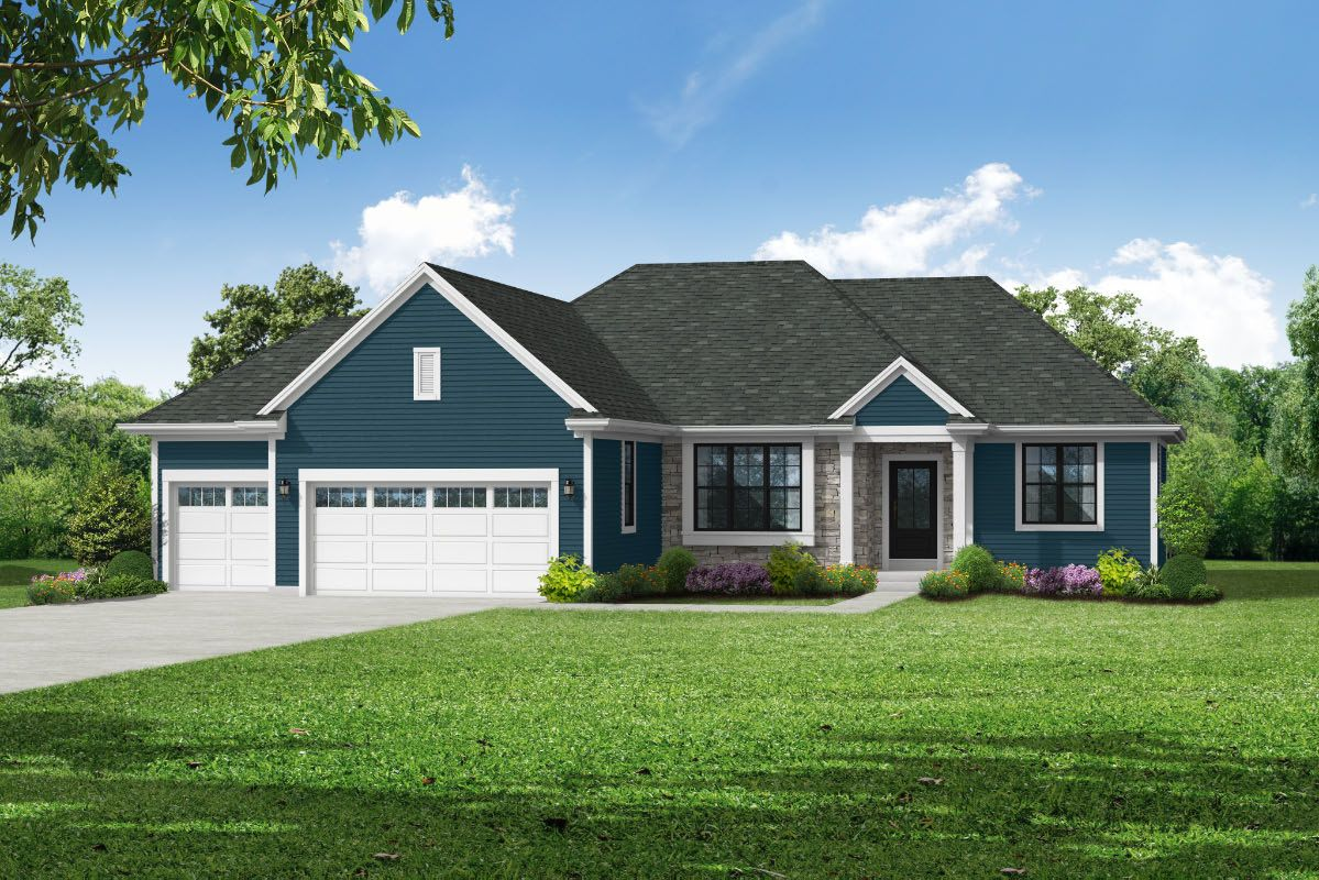 Exterior featured in The Sophia, Plan 1818 By Bielinski Homes, Inc. in Ozaukee-Sheboygan, WI