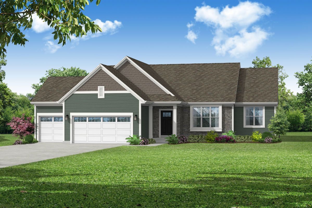Exterior featured in The Rylee, Plan 1810 By Bielinski Homes, Inc. in Washington-Fond du Lac, WI