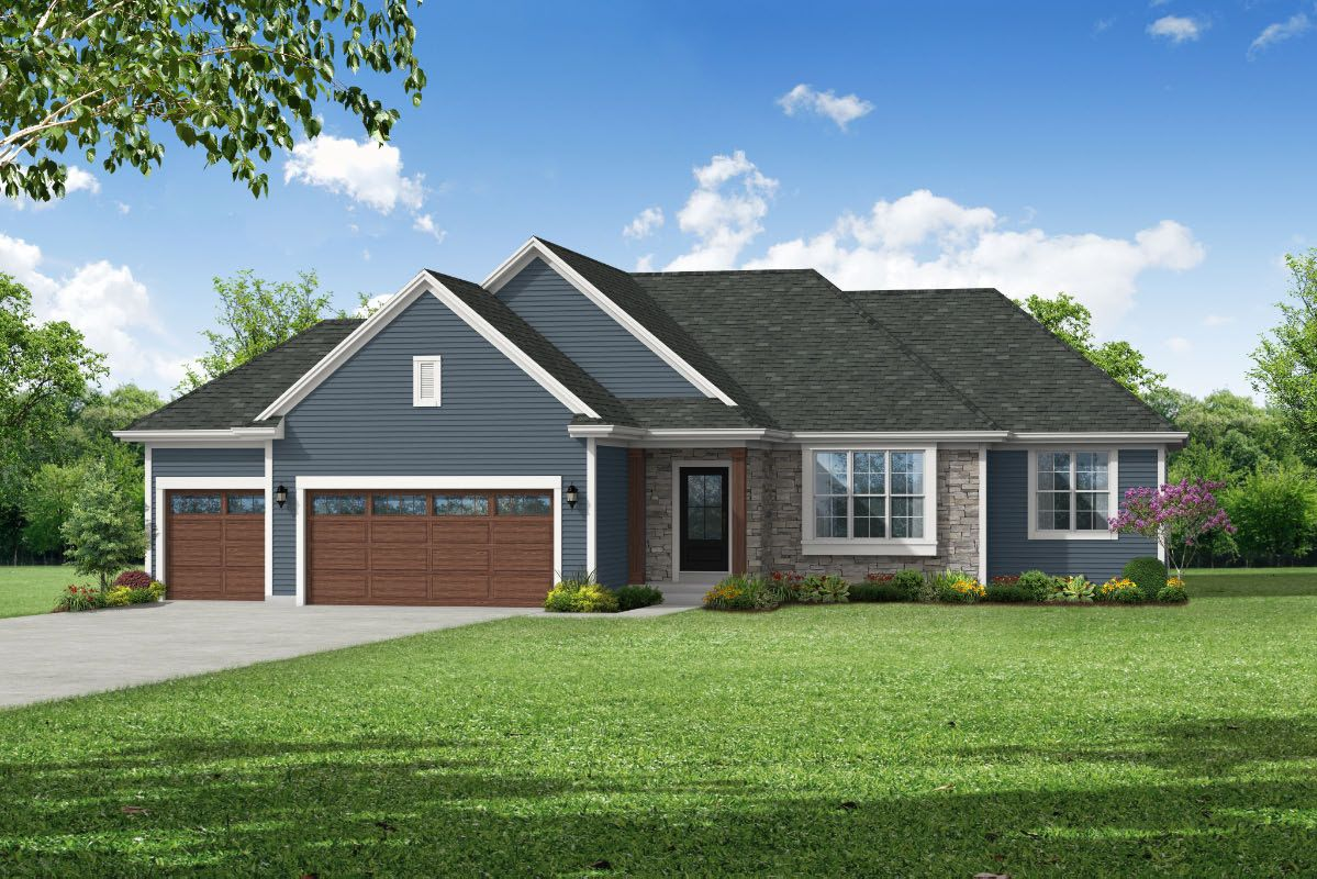 Exterior featured in The Rylee, Plan 1810 By Bielinski Homes, Inc. in Racine, WI