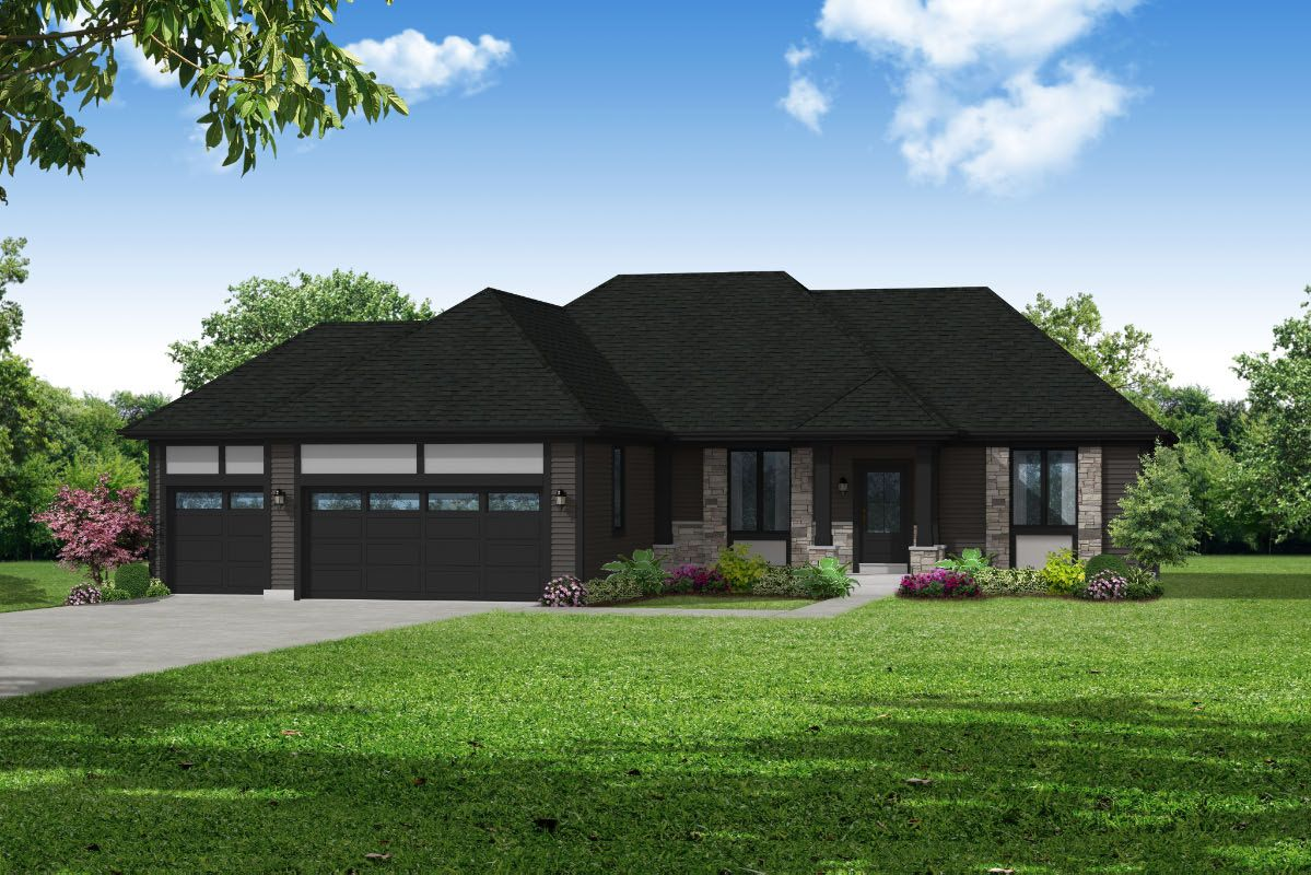 Exterior featured in The Hannah, Plan 1805 By Bielinski Homes, Inc. in Ozaukee-Sheboygan, WI