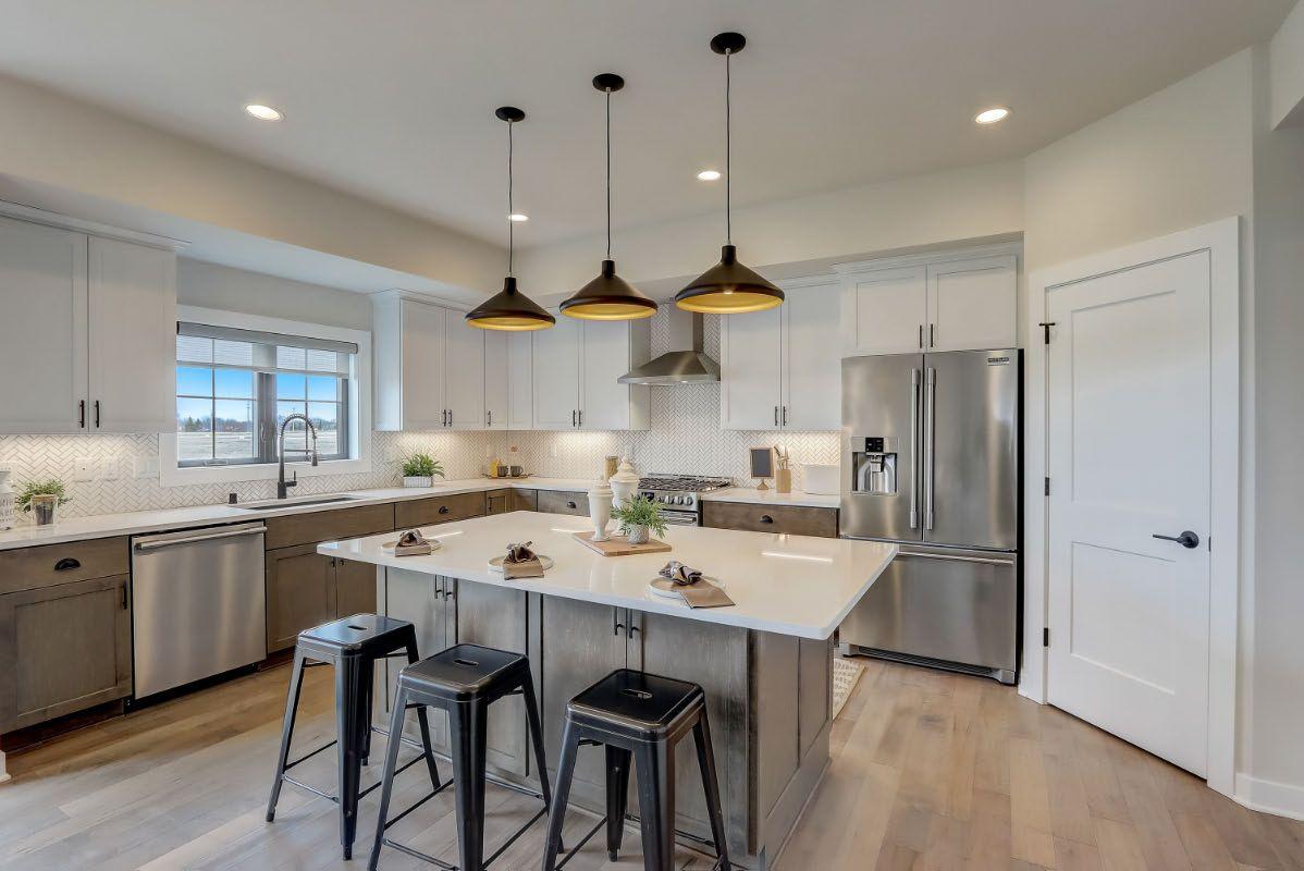Kitchen featured in The Arielle, Plan 2500 By Bielinski Homes, Inc. in Ozaukee-Sheboygan, WI