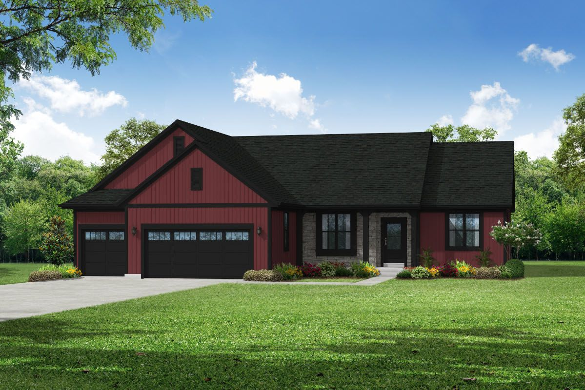 Exterior featured in The Peyton, Plan 1830 By Bielinski Homes, Inc. in Ozaukee-Sheboygan, WI