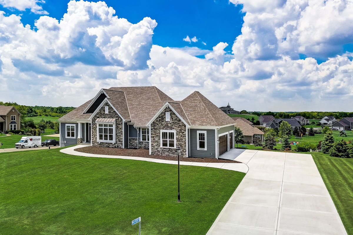 Exterior featured in The Clemont, Plan 2222 By Bielinski Homes, Inc. in Ozaukee-Sheboygan, WI
