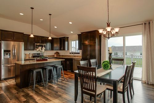 Kitchen-in-The Saratoga, Plan 1624-at-The Settlement at Utica Lake-in-Dousman