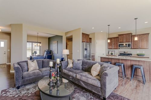 Greatroom-and-Dining-in-The Independence, Plan 1665-at-Hunter Oaks-in-Watertown