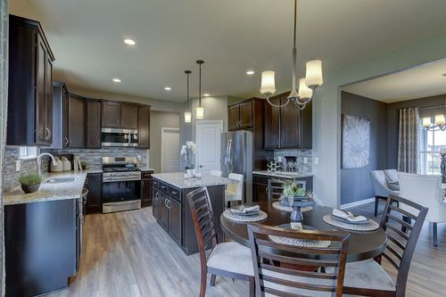Kitchen-in-The Stratford, Plan 2200-at-Hunter Oaks-in-Watertown