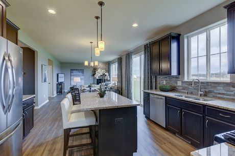Kitchen-in-The Stratford, Plan 2200-at-The Settlement at Utica Lake-in-Dousman