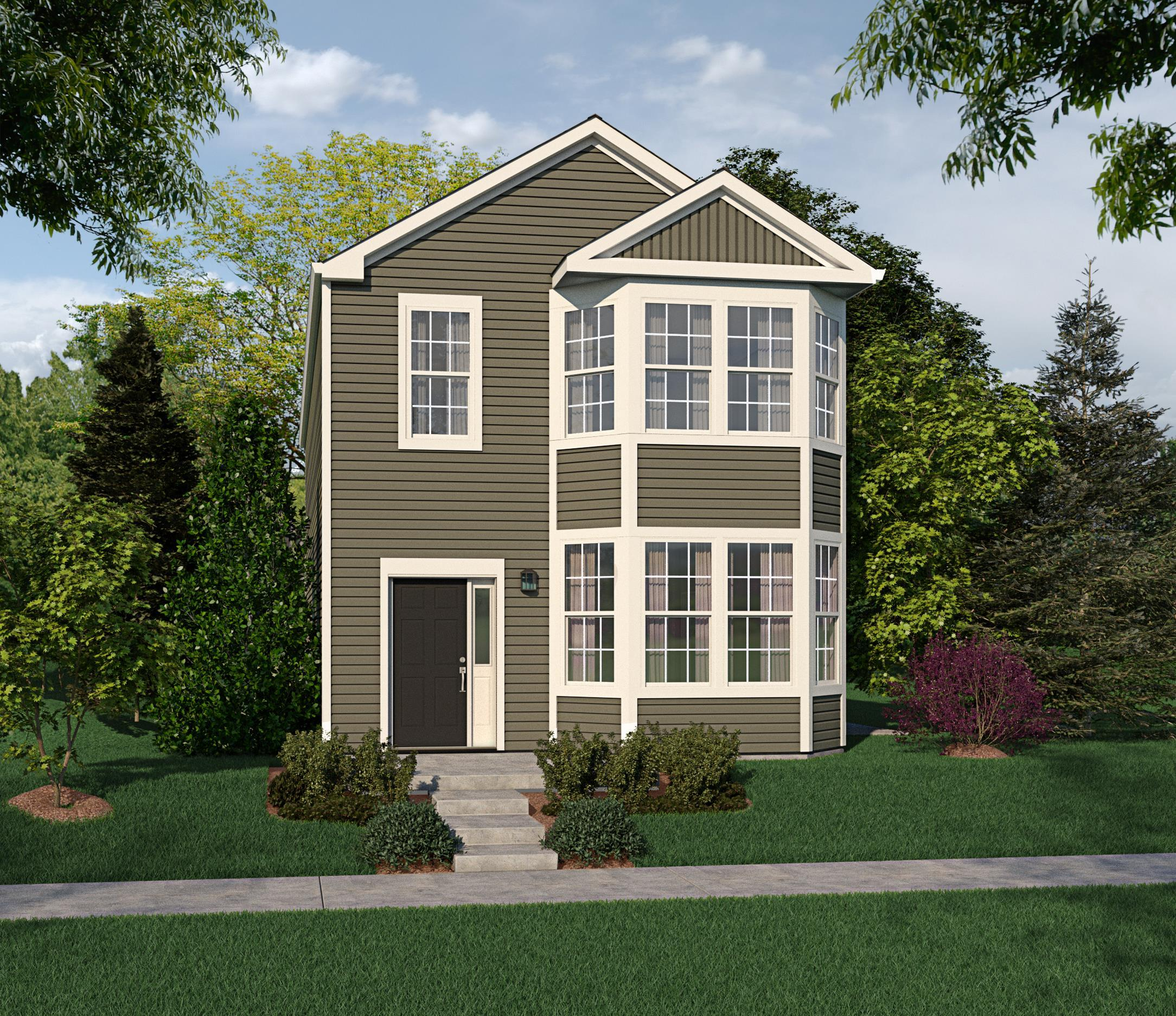 Exterior featured in The Fiesta By Bigelow Homes in Chicago, IL