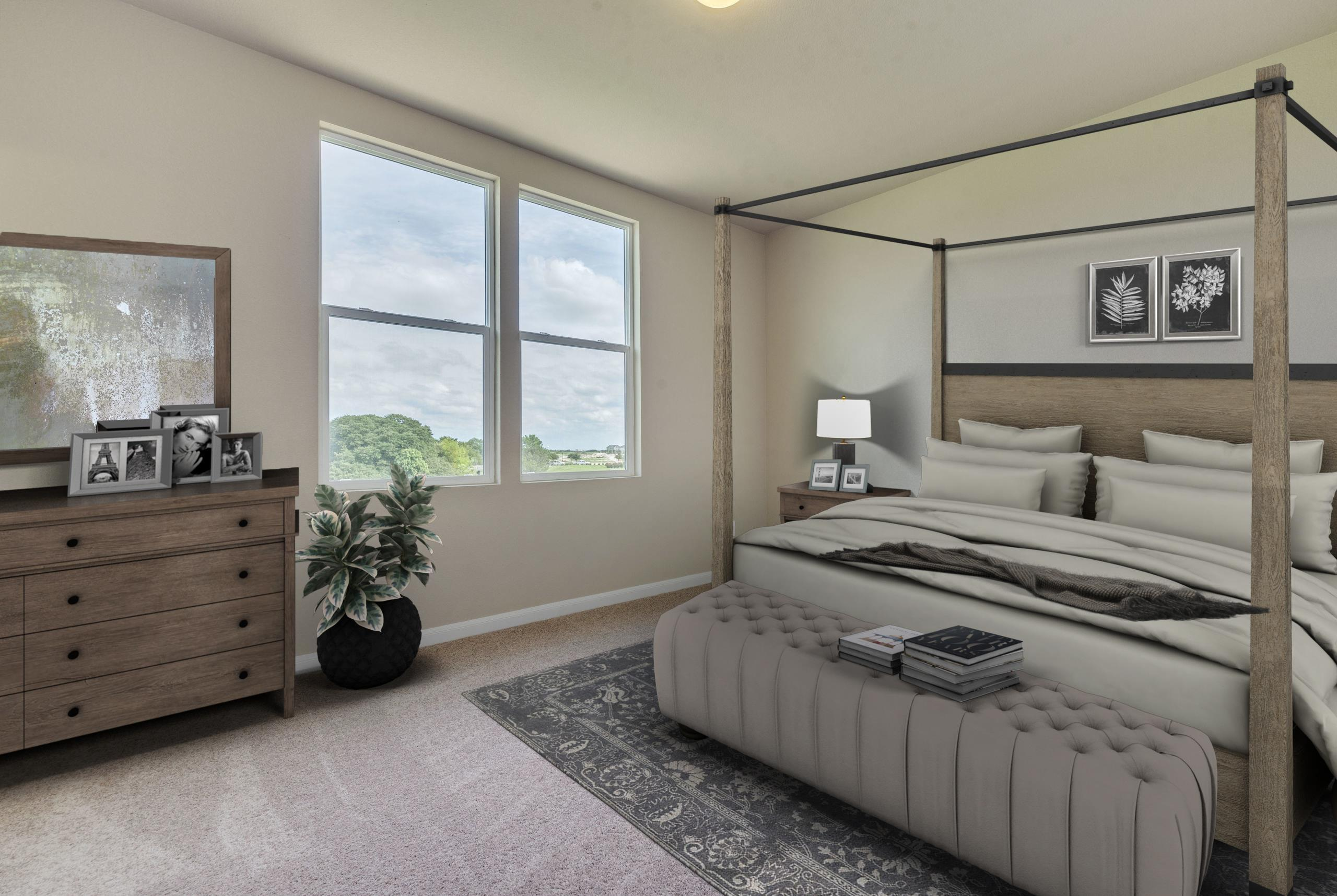 Bedroom featured in The Mesquite By Bigelow Homes in Austin, TX