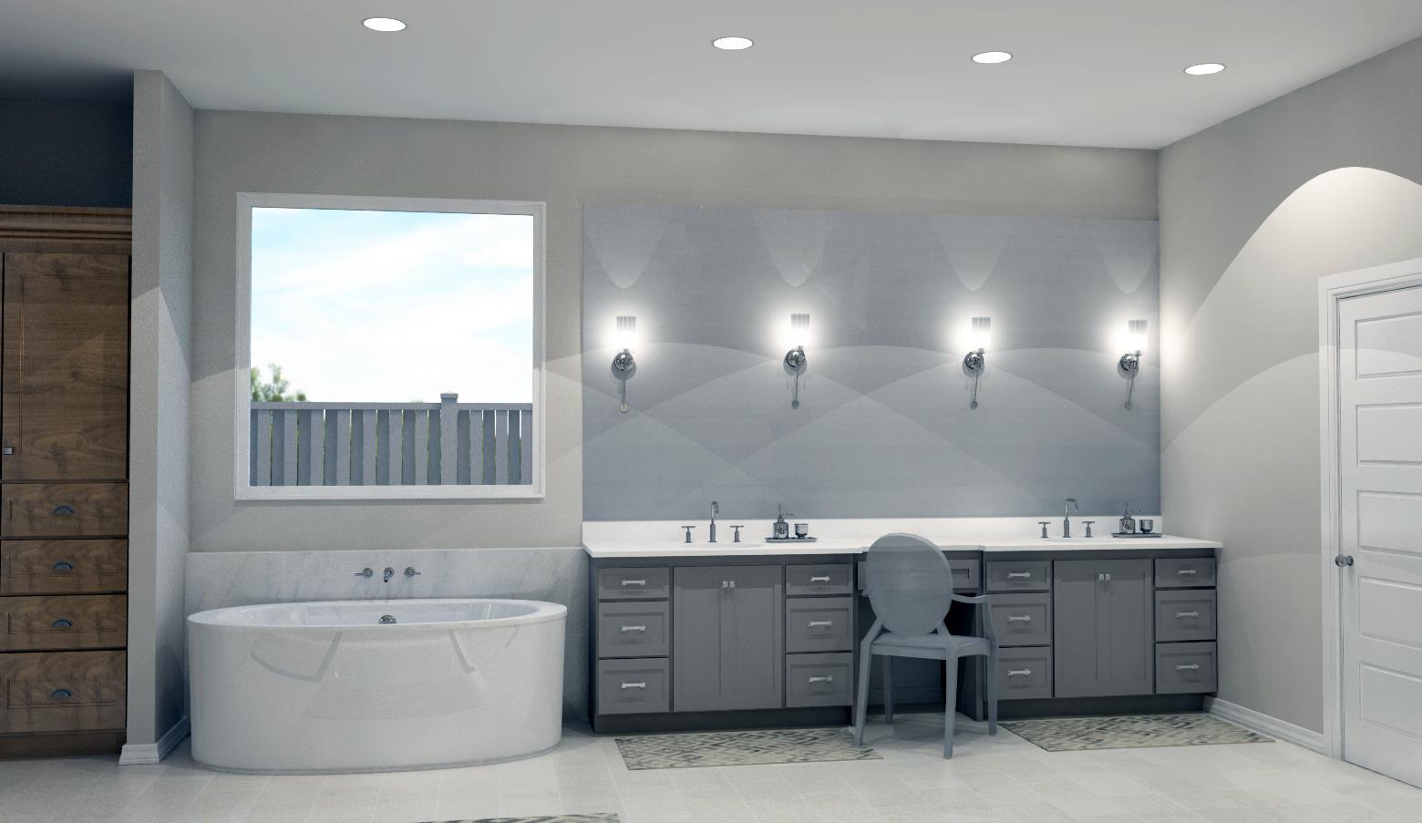 Bathroom featured in the Plan 2710 By Bill Roberts Custom Homes in Oklahoma City, OK