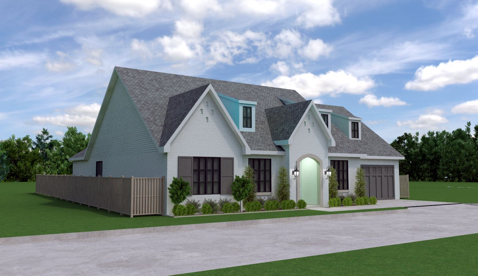 Exterior featured in the Hudson By Bill Roberts Custom Homes in Oklahoma City, OK