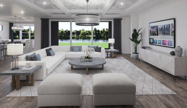 Living Area featured in the Bismark 1 By Biscayne Homes in Tampa-St. Petersburg, FL