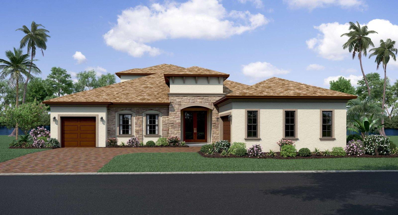 Exterior featured in the Bismark 2 By Biscayne Homes in Tampa-St. Petersburg, FL