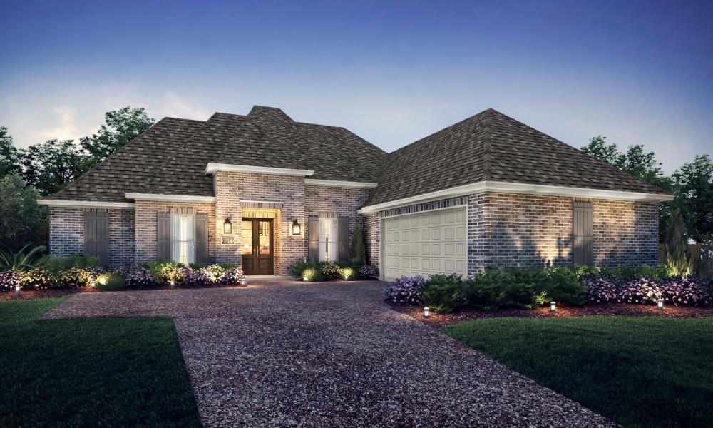 Exterior featured in the Mandeville By Blackburn Communities in Tupelo, MS