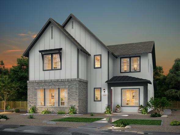 Exterior featured in the Alley Row Collection Residence 8 By BlackPine Communites in Sacramento, CA