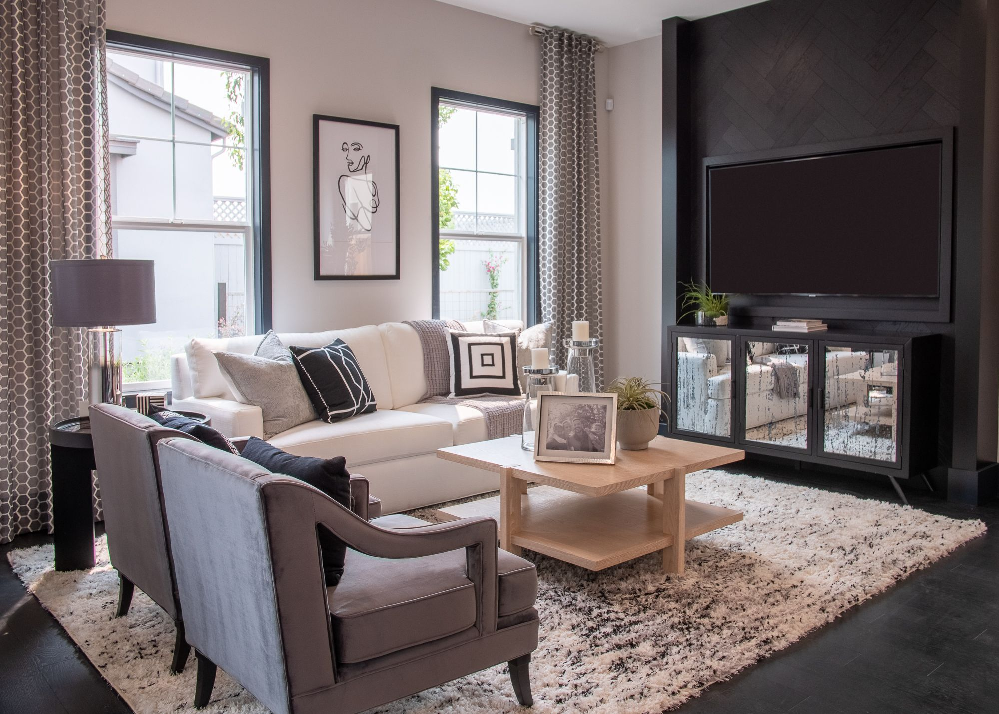 Living Area featured in the Village Courts Collection Residence 10 By BlackPine Communites