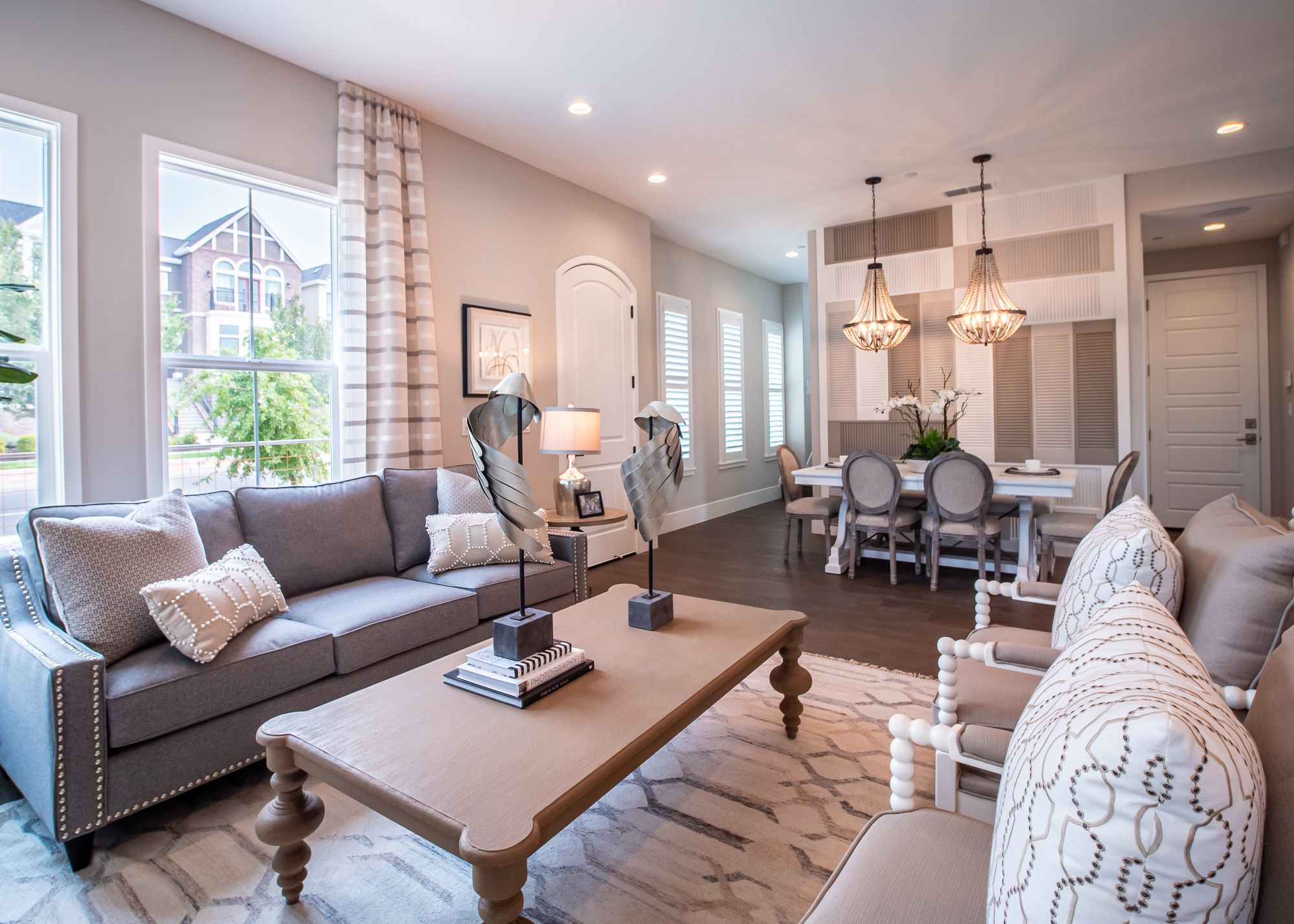 Living Area featured in the Village Courts Collection Residence 12 By BlackPine Communites