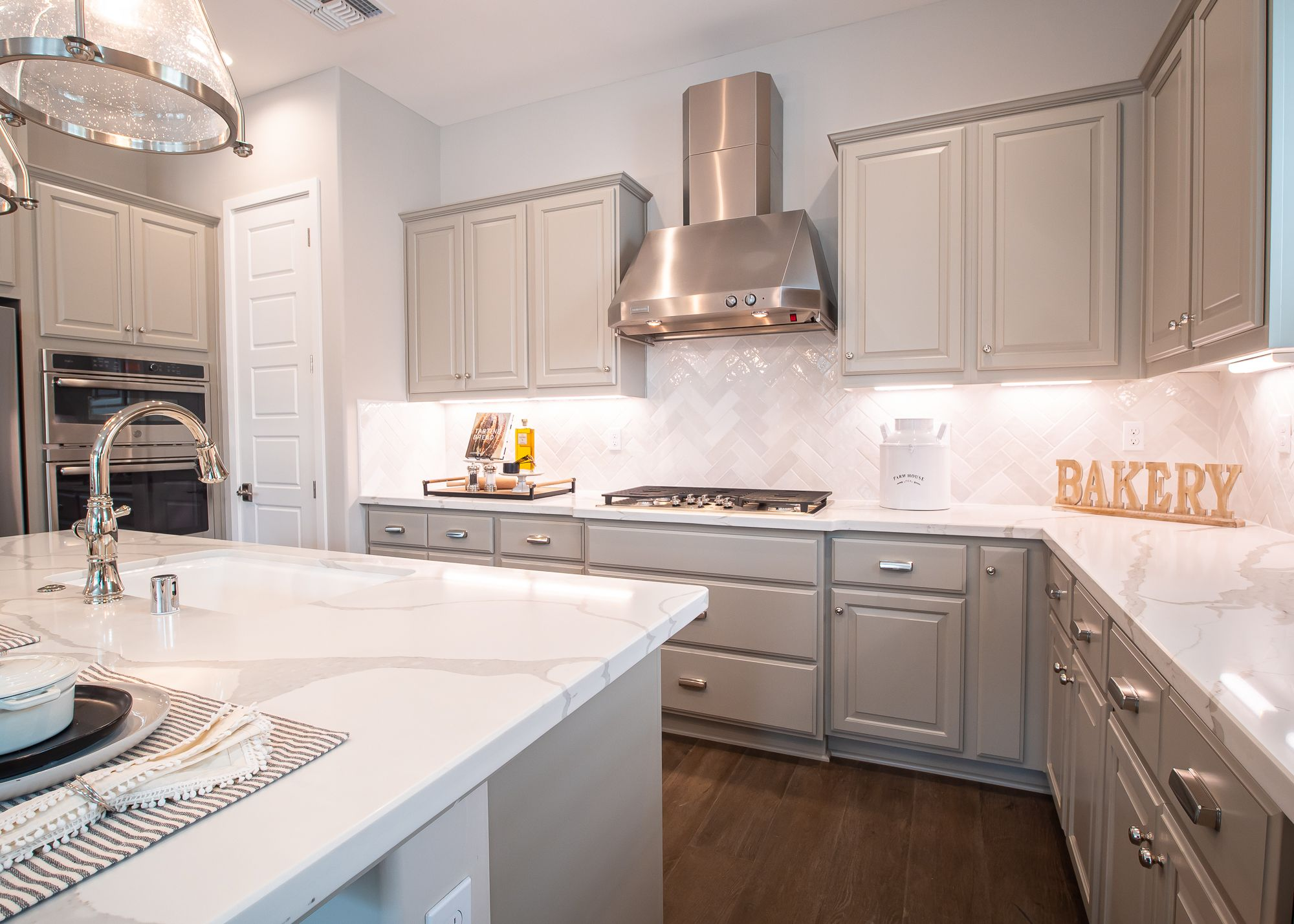 Kitchen featured in the Village Courts Collection Residence 12 By BlackPine Communites