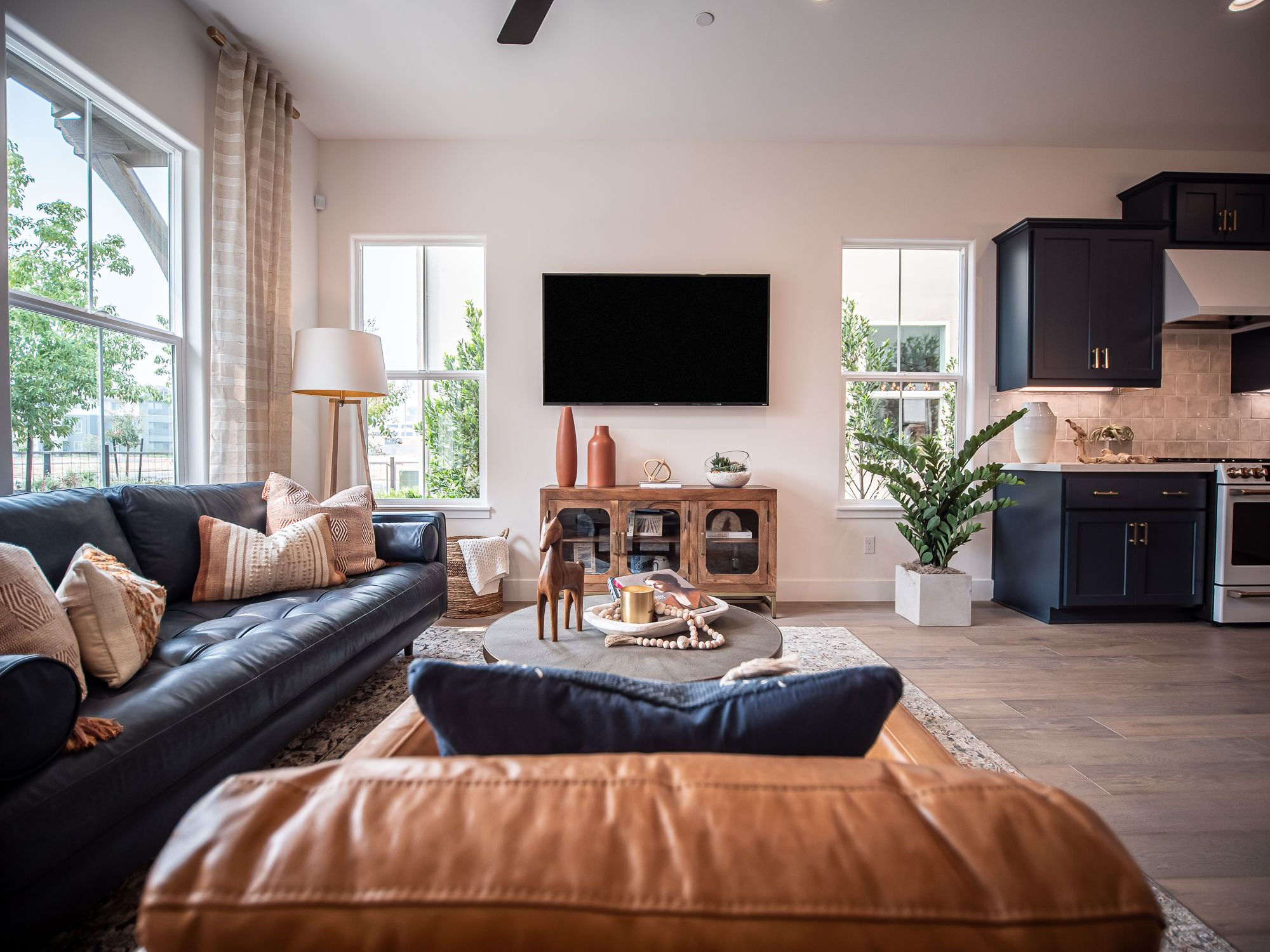 Living Area featured in the Village Courts Collection Residence 9 By BlackPine Communites