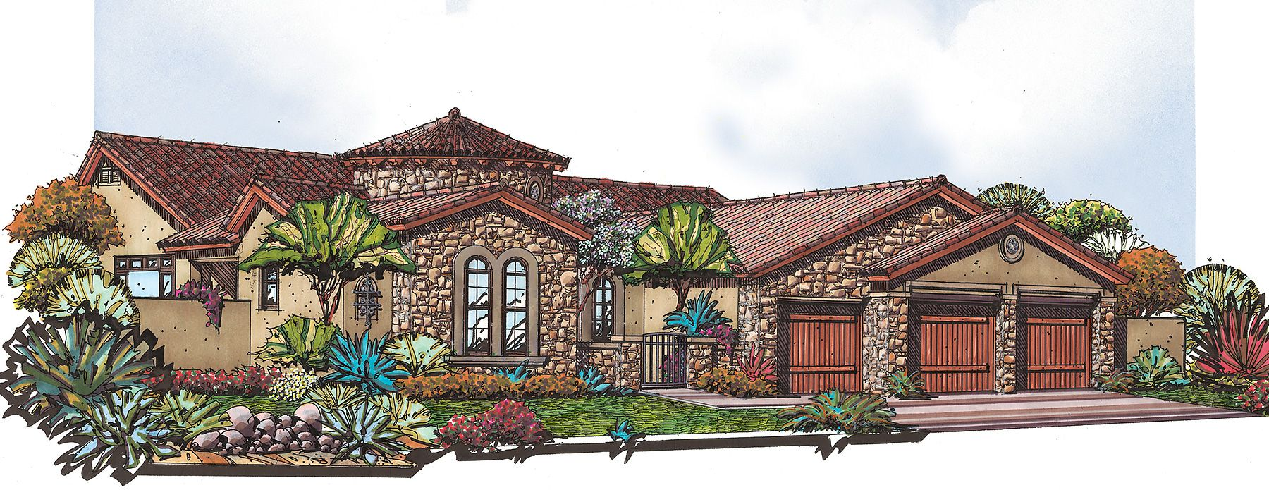 Exterior featured in the Residence 7 By Blandford Homes in Phoenix-Mesa, AZ