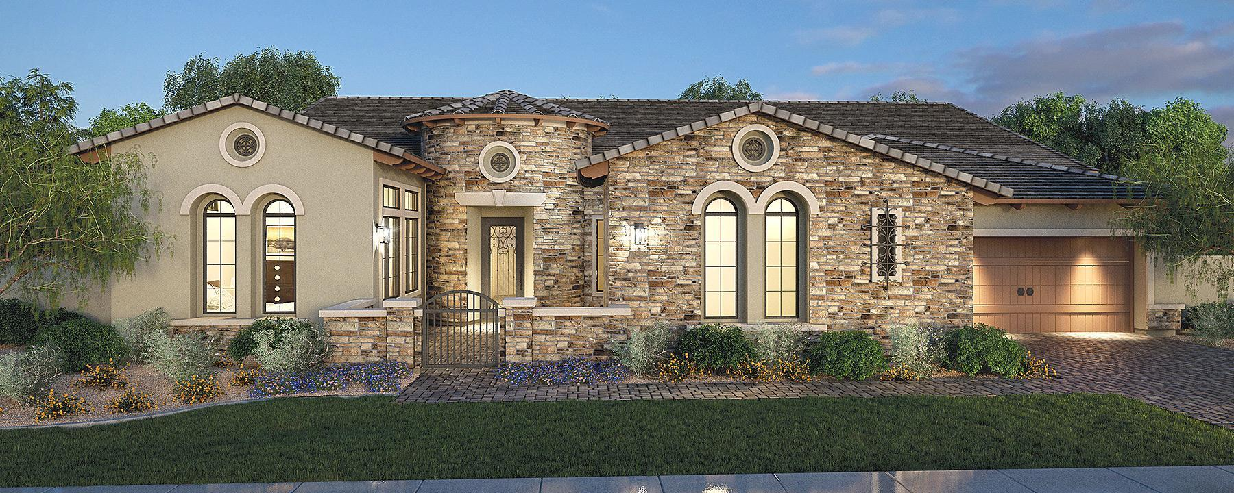 Exterior featured in the Residence 18 By Blandford Homes in Phoenix-Mesa, AZ