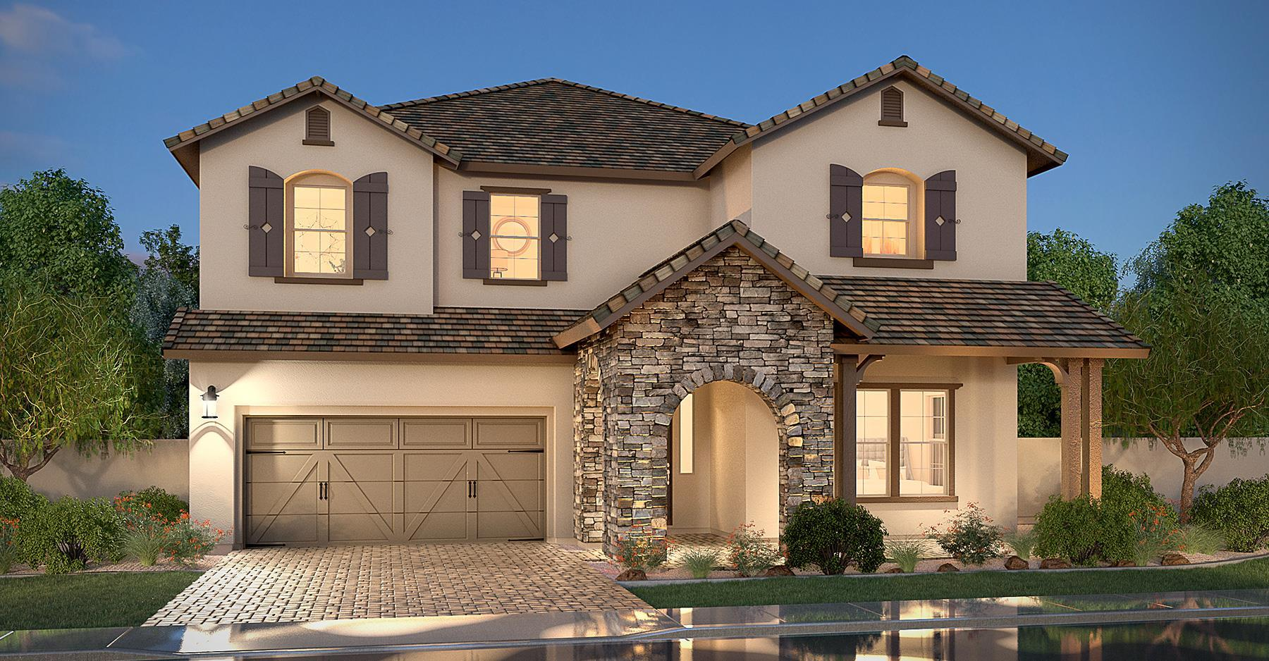 Exterior featured in the Residence Eight By Blandford Homes in Phoenix-Mesa, AZ