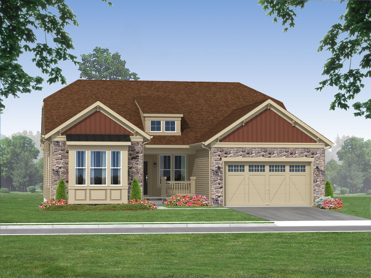 Exterior featured in The Stewart - 55+ By Blenheim Homes, L.P. in Wilmington-Newark, DE
