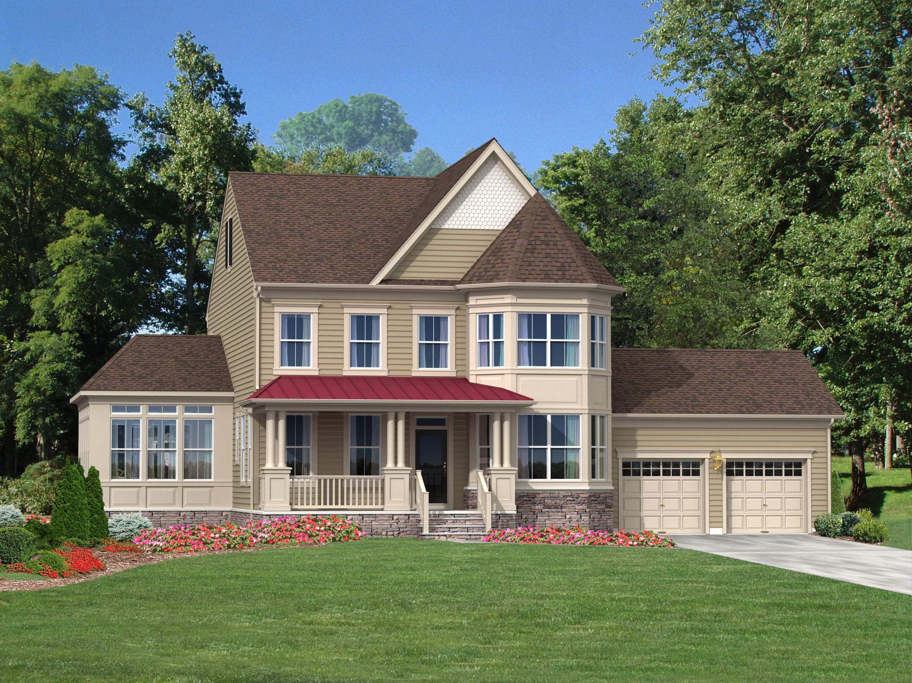 Exterior featured in The Monroe By Blenheim Homes, L.P. in Wilmington-Newark, DE